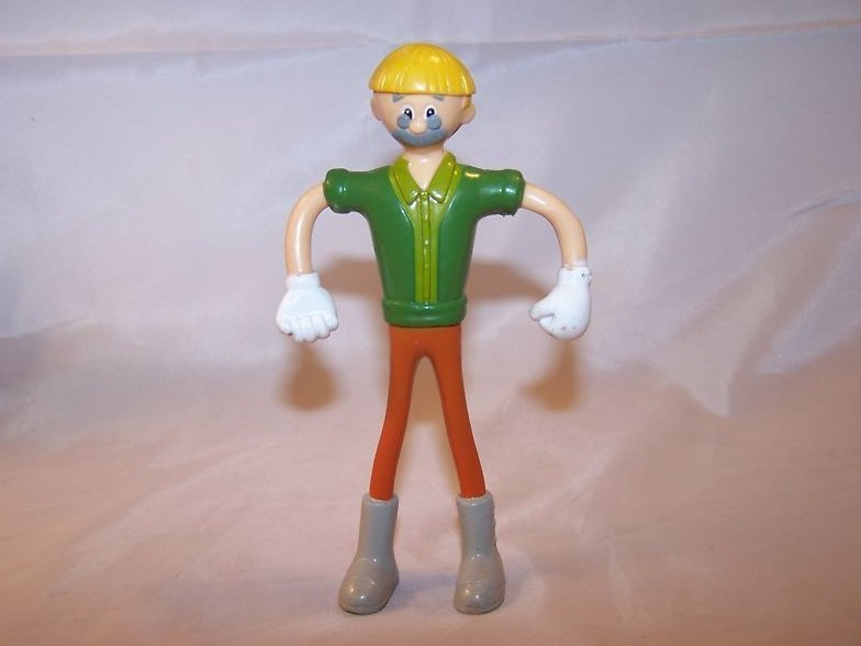 McDonald's Pinocchio Man Bendable Toy, 2002 Miramax