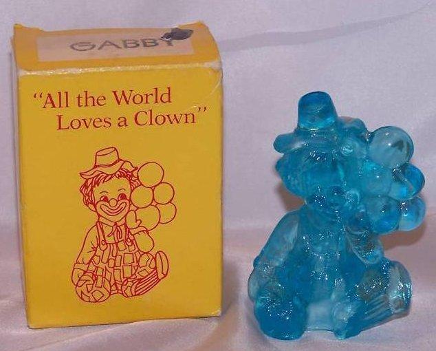 Mosser Glass Gabby Clown, Balloons USA, 1981, in Box