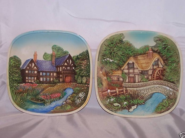 Chalkware Two 3-D Sculpted Legend England, Pictures