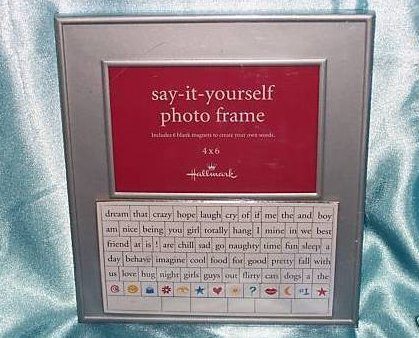 Image 0 of Hallmark Photo Frame, Personalize w Magnet Words, New