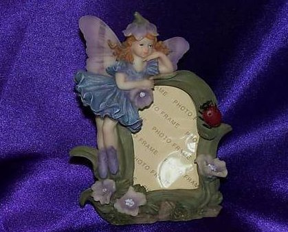 Image 0 of New Purple and Blue Flower Fairy Picture Photo Frame