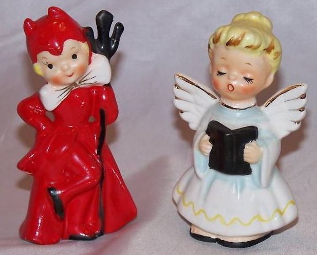Angel and Devil Salt and Pepper Shakers Shaker Set, Japan