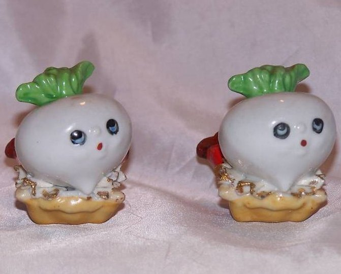 Image 4 of Turnip Salt and Pepper Shakers Shaker, Japan Japanese