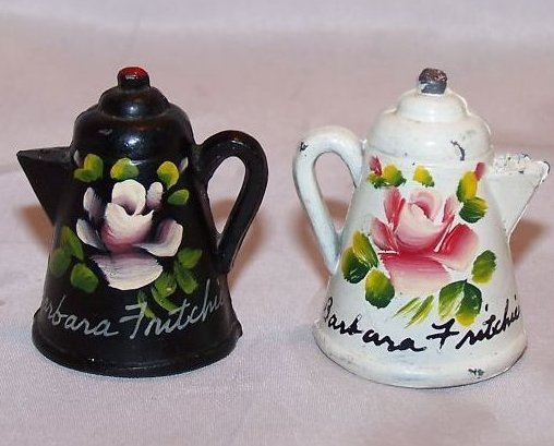 Coffee Pot Salt and Pepper Shakers, American USA