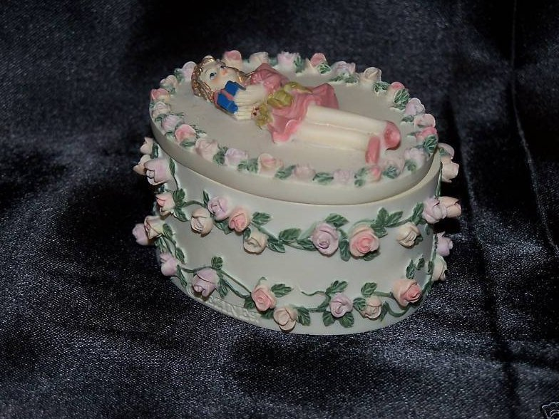 Image 2 of Fairy Pink Roses Trinket Box, Jewelry Box, Tooth Fairy