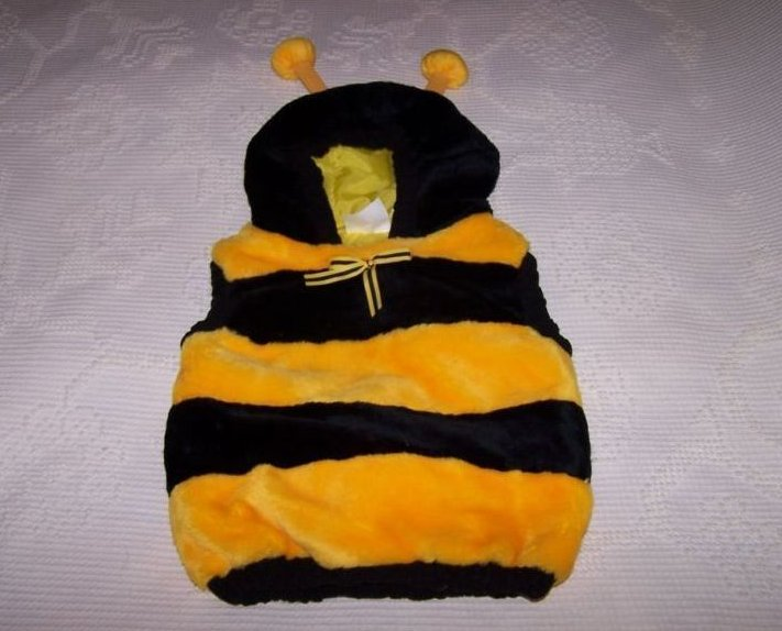 Bee Costume w Stinger, Sz 12 to 24 Months, Plush