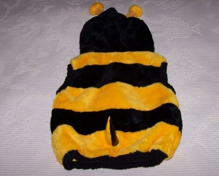 Image 1 of Bee Costume w Stinger, Sz 12 to 24 Months, Plush