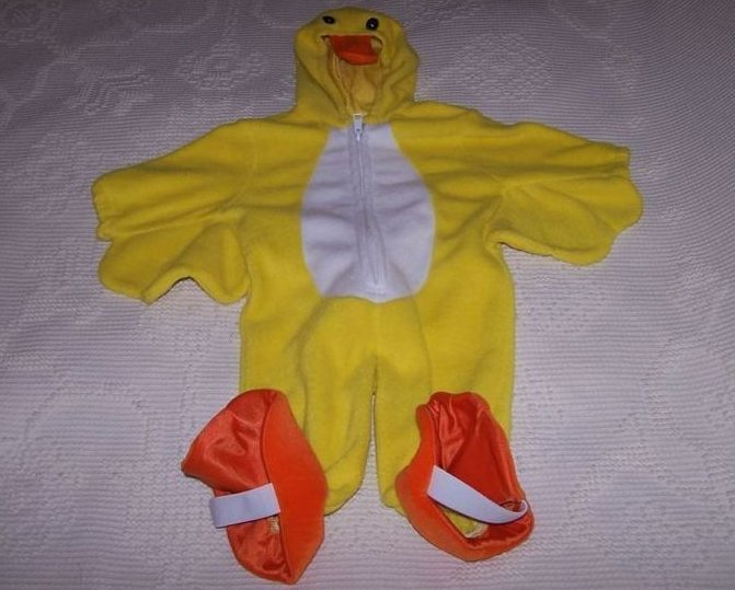 Duck Duckling Costume, Sz 6 to 9 Months, KRU Supplies