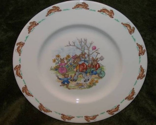 Royal Doulton Bunnykins Fall Harvest Plate, Dish