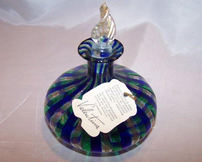 Perfume Bottle Murano Linea Valentina Italian Glass