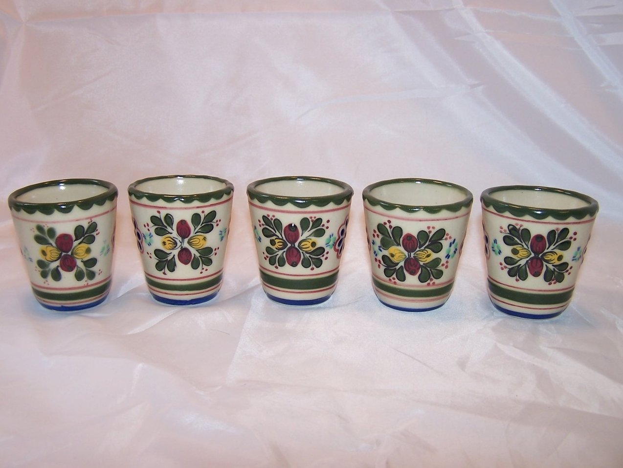 Mexican Mini Flower Pots, Windowsill Pots, Set of 5, Mexico