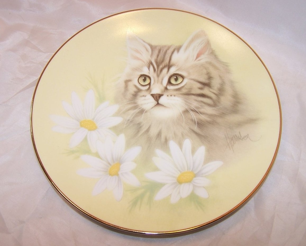 Hamilton Collection Spring Fever, Petals and Purrs Plate COA