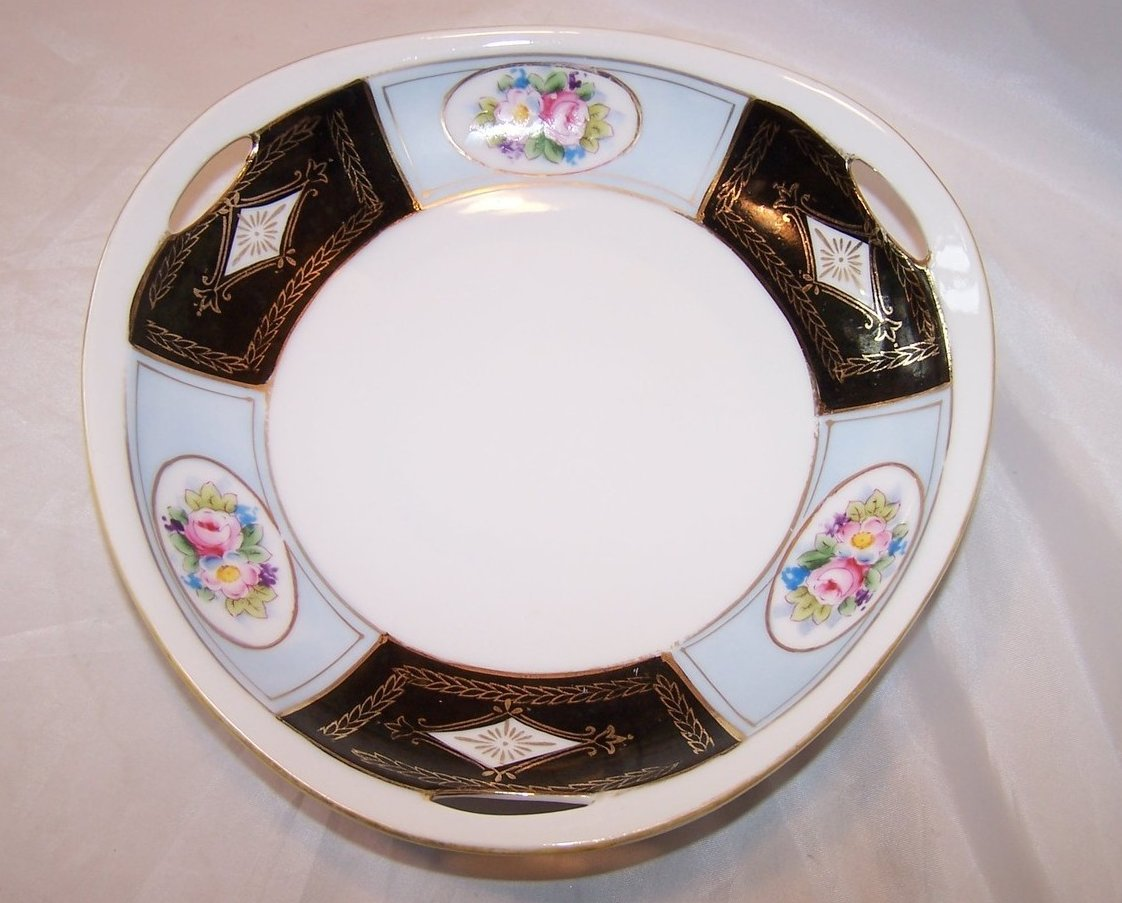 Noritake Hand Painted Vegetable Serving Bowl, Gold Highlights
