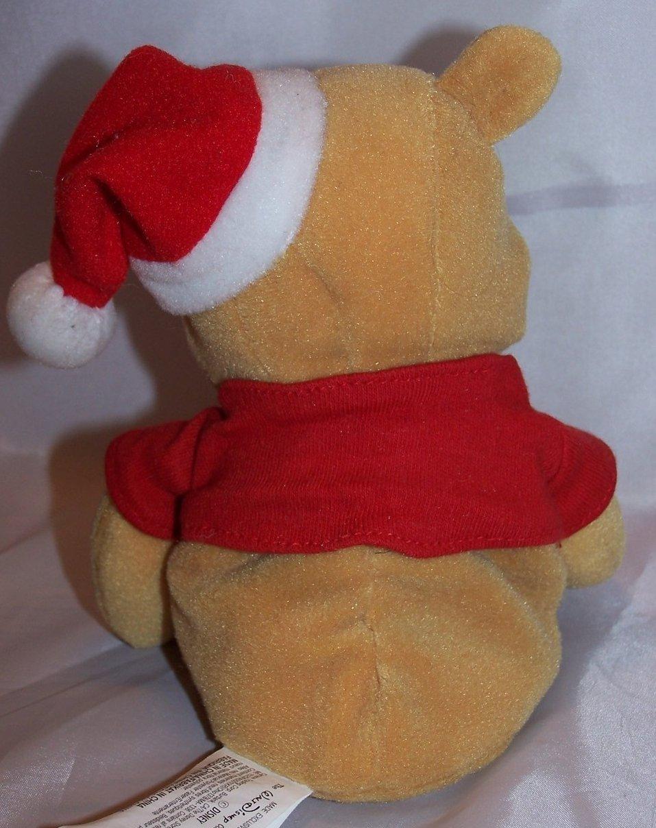 winnie the pooh santa claus pooh stuffed plush sitting disney - Stuffed Santa Claus