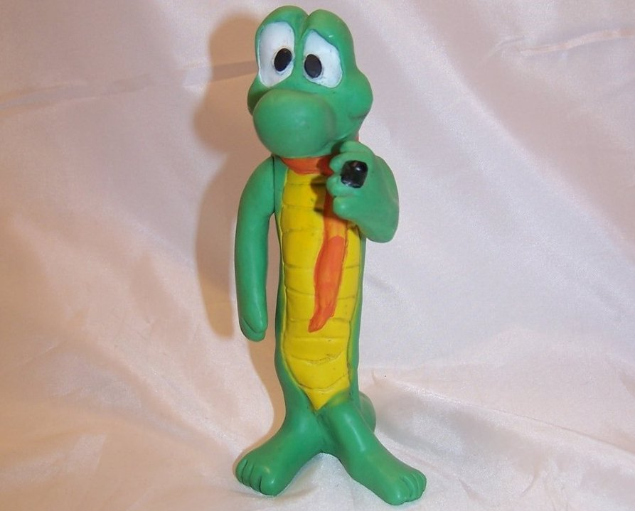 Albert Alligator Poseable Plastic Figure, Walt Kelly, Vintage