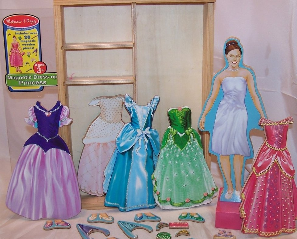 Image 1 of Melissa and Doug Magnetic Dress Up Princess, Ages 3 up