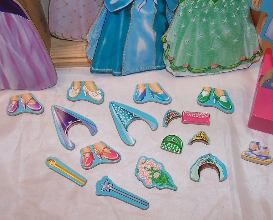 Image 2 of Melissa and Doug Magnetic Dress Up Princess, Ages 3 up