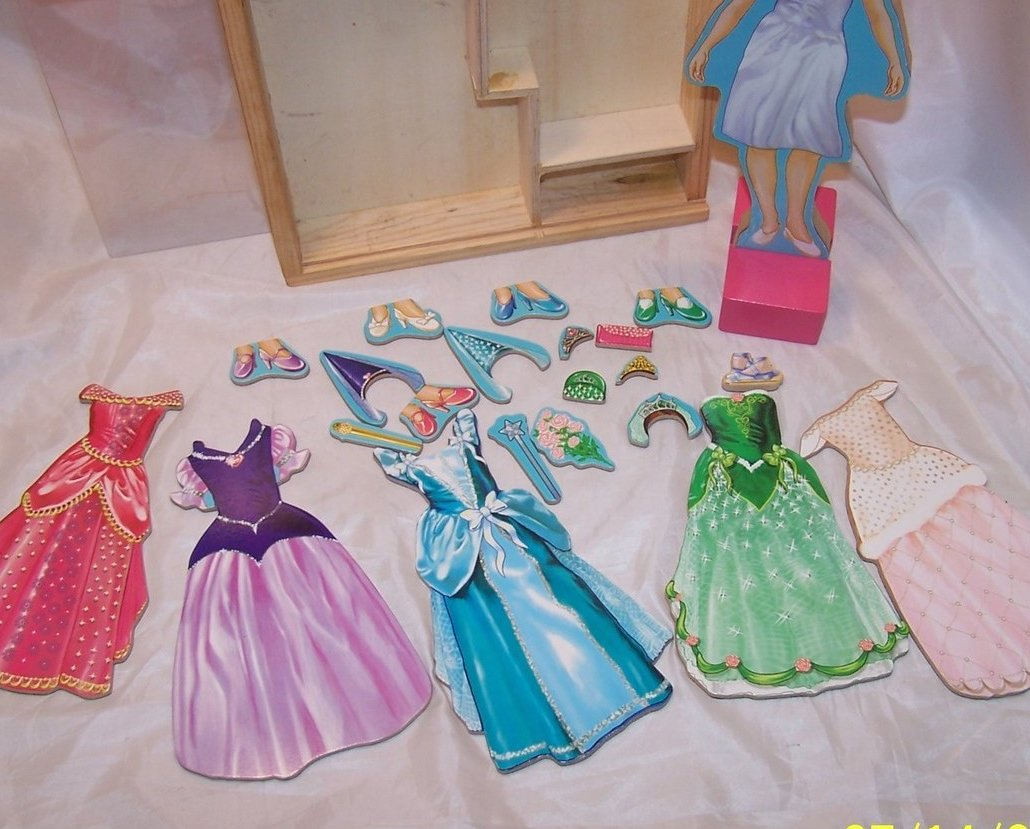 Image 3 of Melissa and Doug Magnetic Dress Up Princess, Ages 3 up