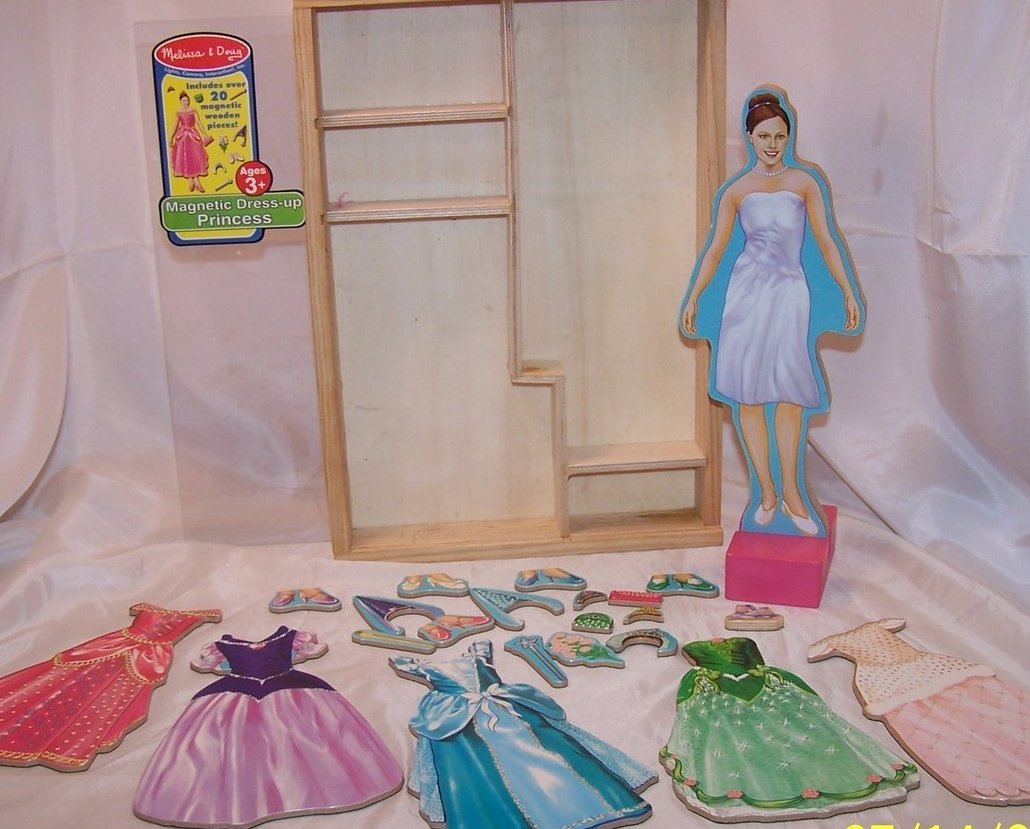 Image 4 of Melissa and Doug Magnetic Dress Up Princess, Ages 3 up