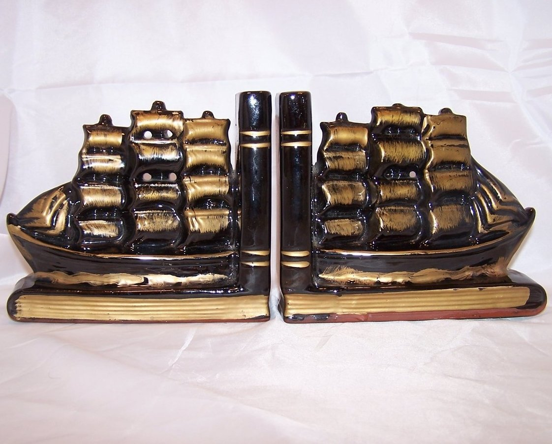 Image 0 of Bookend Great Sailing Ship Set