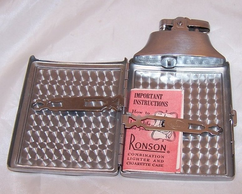 Image 3 of Ronson Mastercase Lighter, Cigarette  Case, Instructions, Refillable