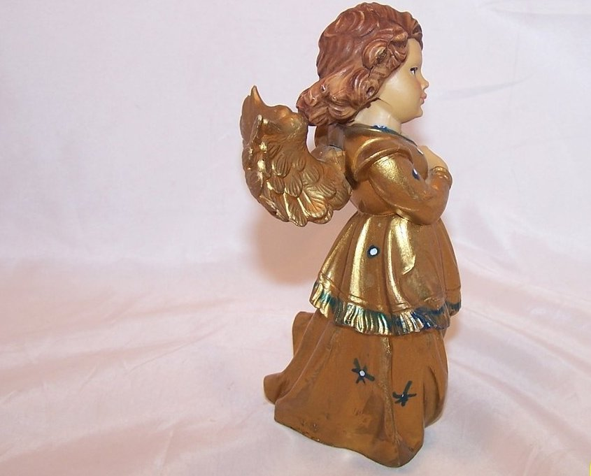 Image 3 of Angel in Gold Plays Lyre, Italy, 6 Inch