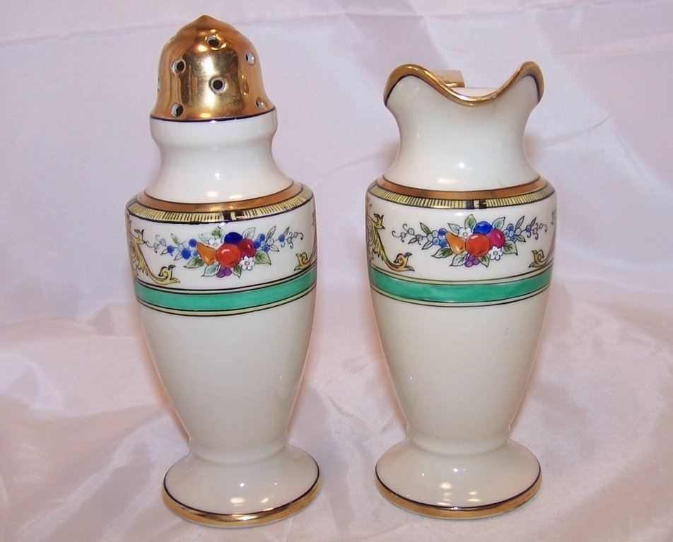 Image 1 of Classic Noritake Creamer and Sugar Shaker, Vintage, Japan
