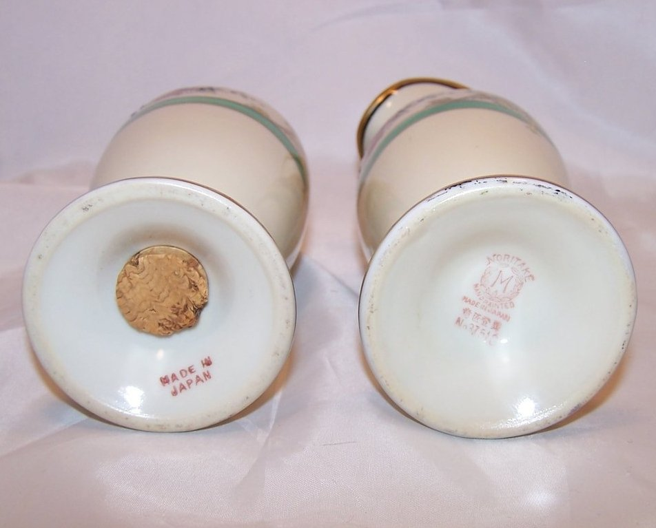 Image 4 of Classic Noritake Creamer and Sugar Shaker, Vintage, Japan