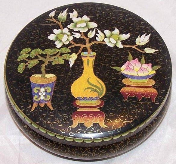 Image 0 of Bonsai, Flowers, Vases Tin Box, Designed by Daher, England
