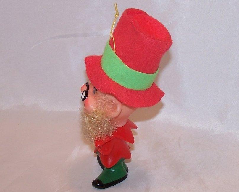 Image 1 of Red Dwarf, Elf, Gnome Plastic Doll, Ornament Vintage