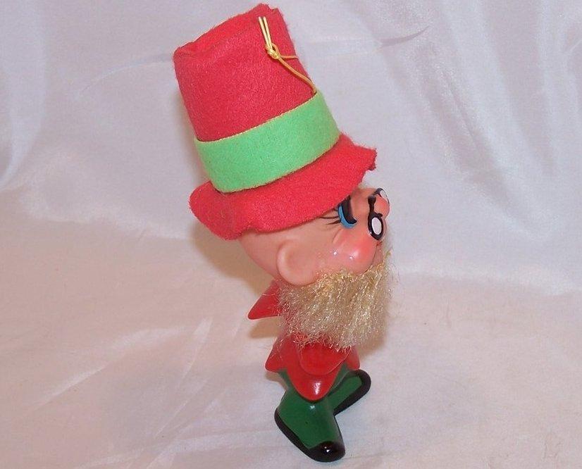 Image 3 of Red Dwarf, Elf, Gnome Plastic Doll, Ornament Vintage