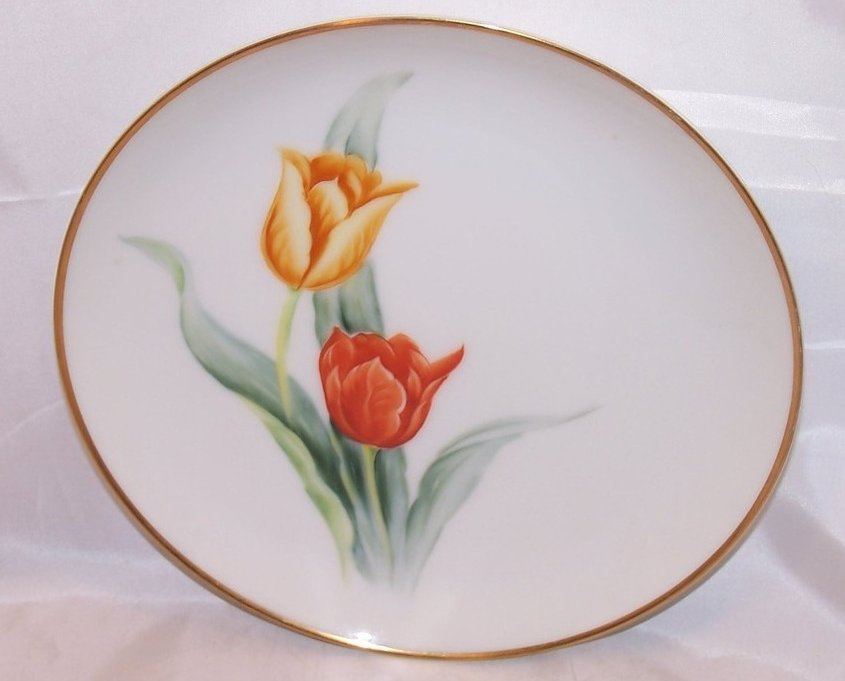 8 Inch Tulip Salad Plate, Sango China, Occupied Japan
