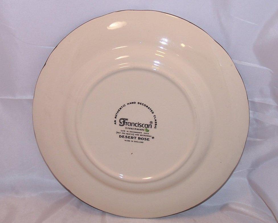 Image 1 of Franciscan Desert Rose Dinner Plate England & Franciscan Desert Rose Dinner Plate England