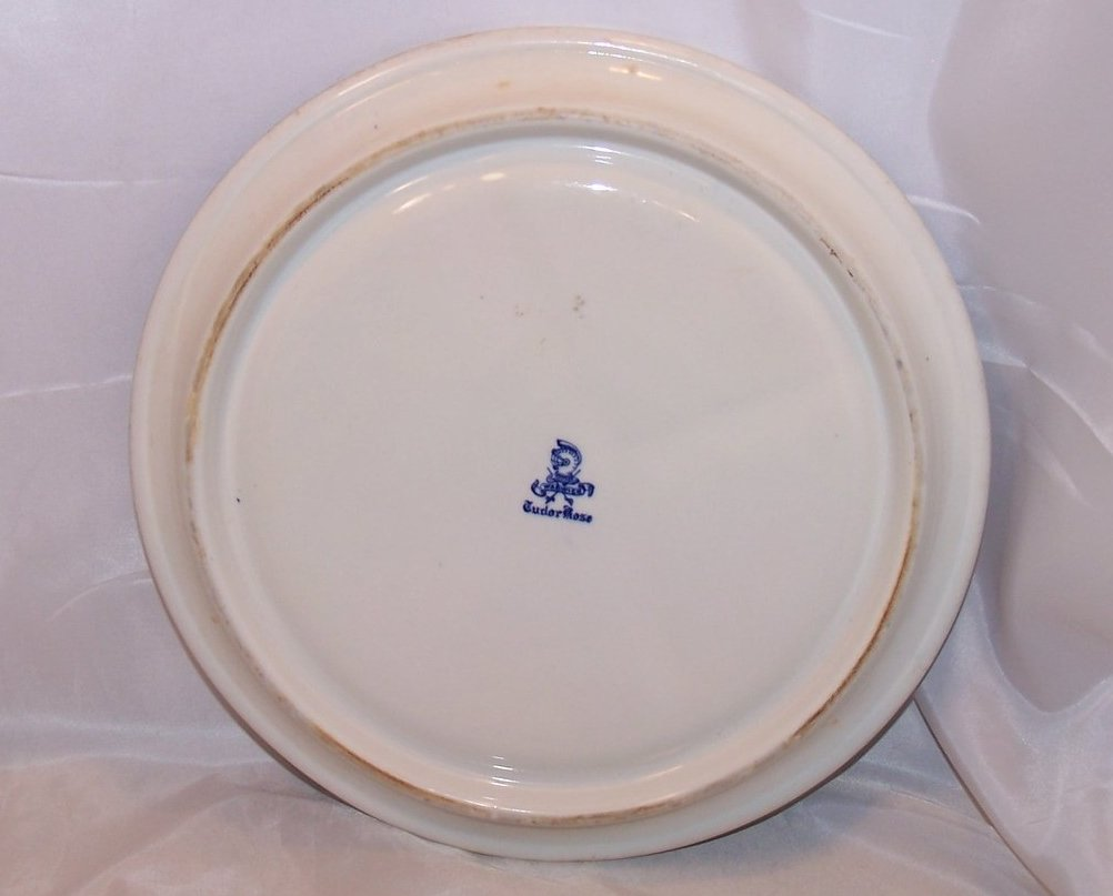 Image 1 of Warwick Tudor Rose Divided Grill Plate Blue