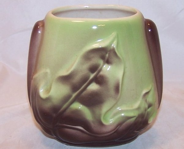 Image 0 of Royal Copley Brown Leaf and Green Vase, Ceramic, Vintage