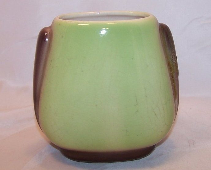 Image 2 of Royal Copley Brown Leaf and Green Vase, Ceramic, Vintage