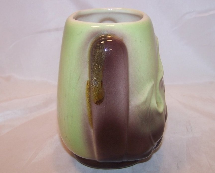 Image 3 of Royal Copley Brown Leaf and Green Vase, Ceramic, Vintage