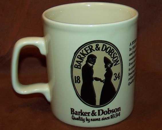 Image 2 of Barker and Dobson Candy Company Advertising Cup Mug, England