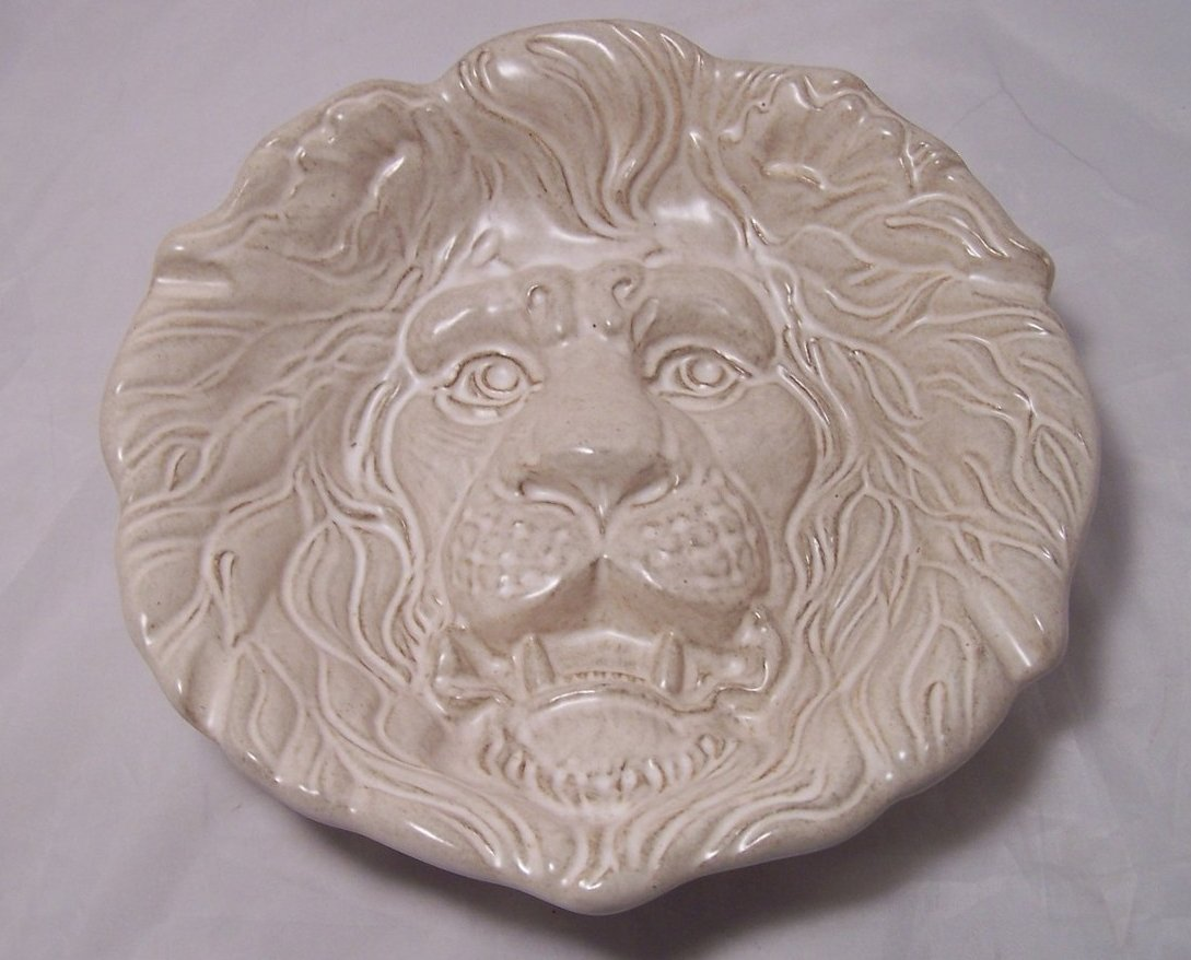 Image 0 of Haeger Classic Sculpted Lion Head Ashtray Ash Tray Bowl Dish