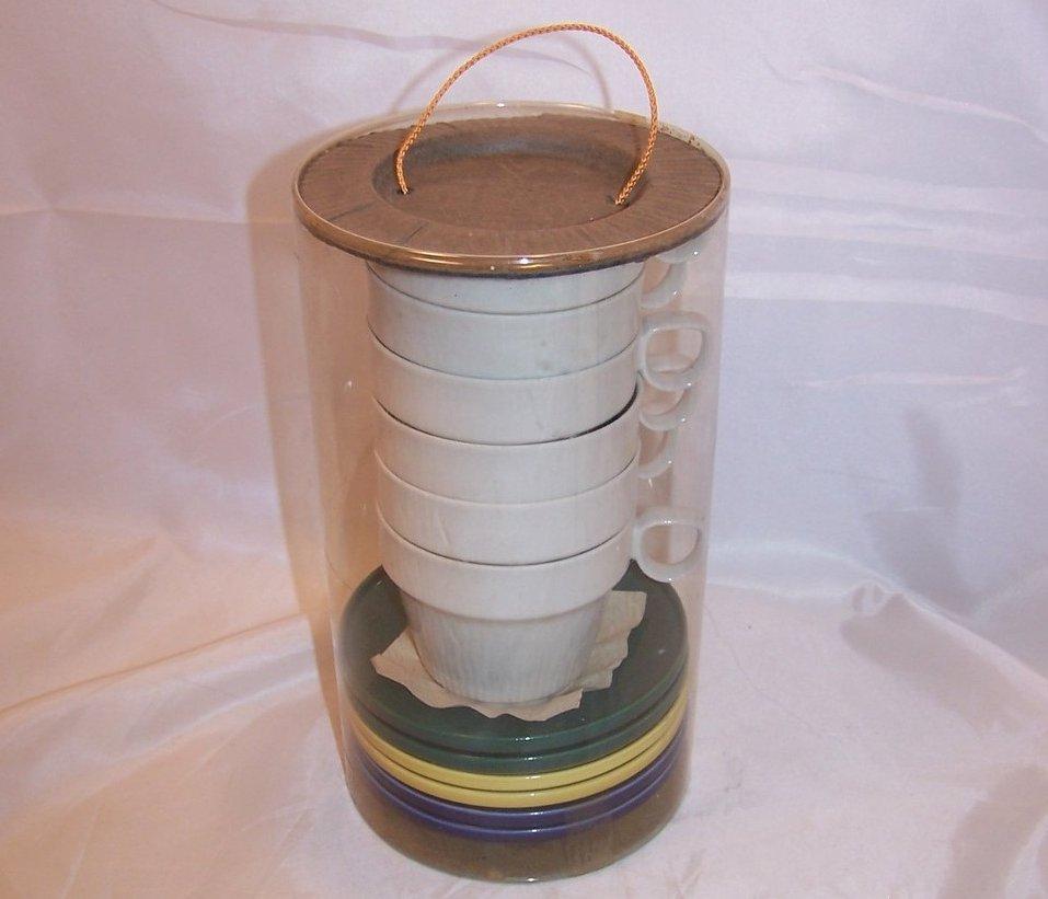 Oeslauer Porzellan Manufaktur, OPM, 6 Cup Mug, Saucer Set