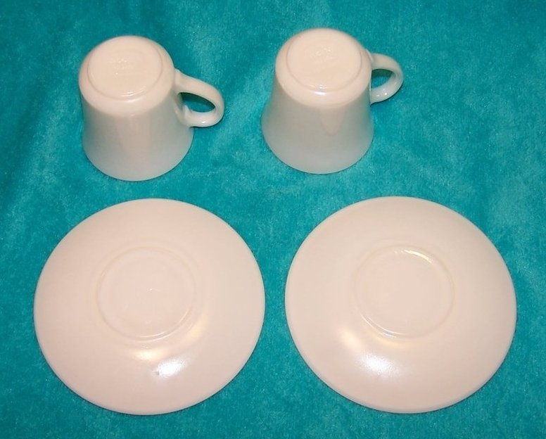 Image 4 of Arcopal White Demitasse Cup Saucer Sets, 2 Cups, 2 Saucers