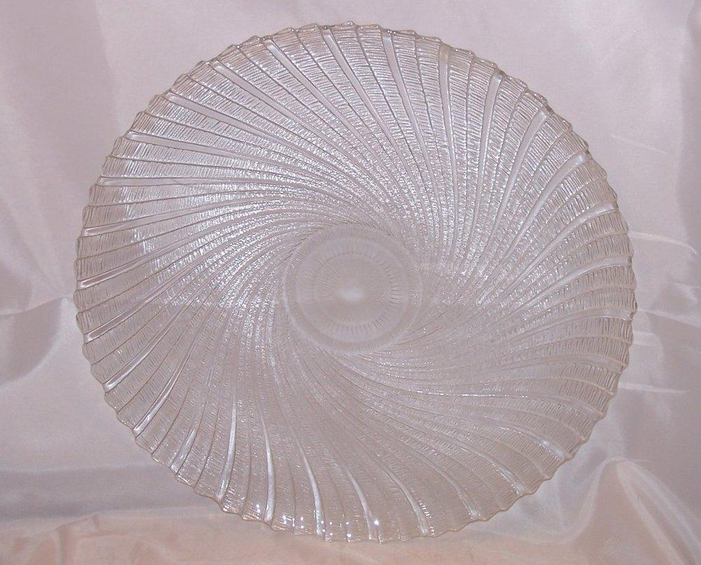 Image 1 of Seabreeze Crystal Platter, Arcoroc, J G Durand, Original Box