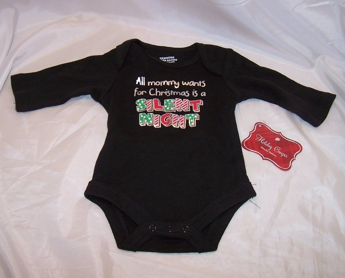 Image 1 of All mommy wants for Christmas Onesie Onesy, LS, New