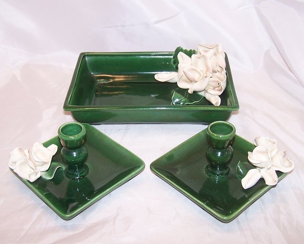 Anna West Candlesticks Candlestick and Dresser Pin Dish