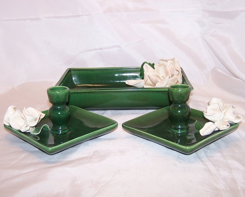 Image 2 of Anna West Candlesticks Candlestick and Dresser Pin Dish