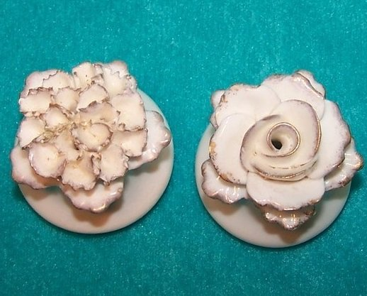 Aynsley White, Gold Flower Salt and Pepper Shakers, England