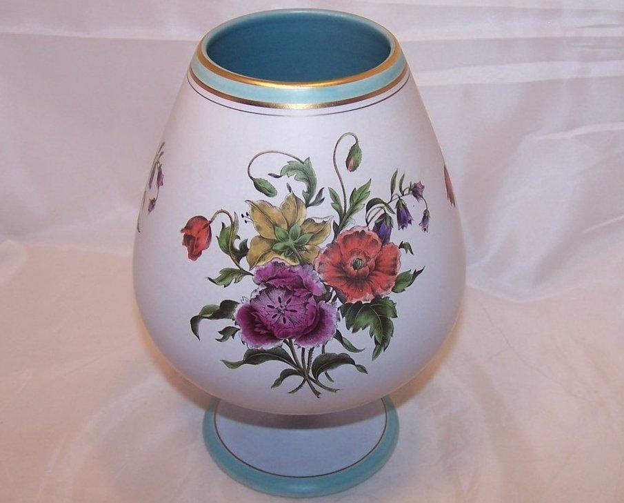 Flora Keramiek Gouda Holland Sandra Short Vase 1849, 8 Inches Tall