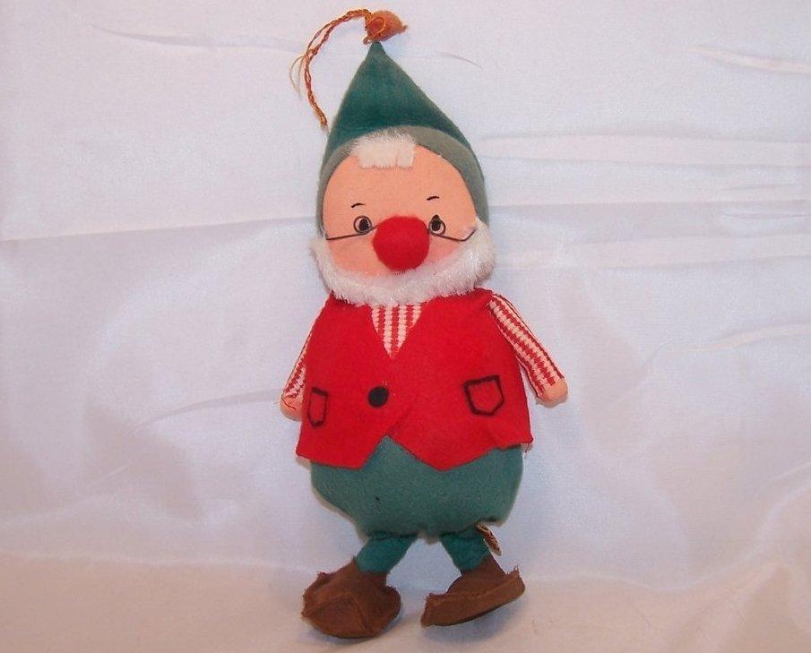 Vintage Christmas Elf Dwarf, Fun Farm, Faded