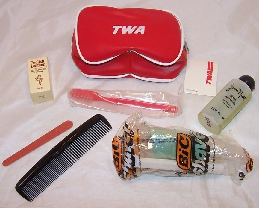 Image 5 of TWA Airline Mini Travel Case w Supplies, Vintage Authentic