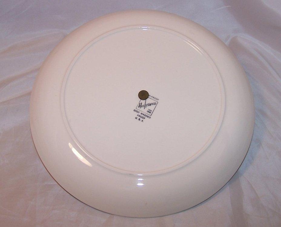 Image 2 of Harker Ware Harkerware Art Pottery Serving Plate, Glaze Cutouts, USA